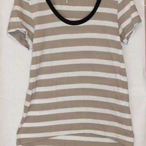 Bobi Striped hi-low T-Shirt